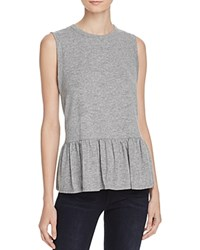 Aqua X Maddie And Tae Knit Flounce Tank 100 Bloomingdale's Exclusive Heather Grey