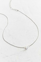 Urban Outfitters Aurora Short Necklace Silver