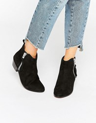 Carvela Side Zip Leather Ankle Boots Black