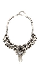 Dannijo Cherie Necklace Ox Silver Matte Black