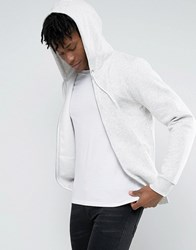 New Look Zip Through Hoodie In Oatmeal Oatmeal Cream