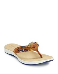 Sperry Seabrook Thong Sandals Navy Blue