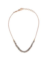 Jacquie Aiche Labradorite And 14K Rose Gold Beaded Anklet