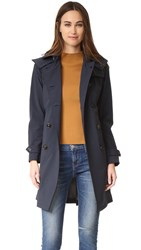 Woolrich W's Fayette Trench Coat Classic Navy
