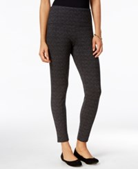 Styleandco. Style Co. Jacquard Tummy Control Leggings Only At Macy's Deep Black