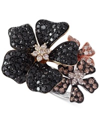 Effy Collection Confetti By Effy Multicolor Diamond Flower Ring 2 Ct. T.W. In 14K Gold