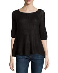 525 America Short Sleeve Soft Knit Top Black