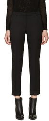 Alexander Mcqueen Black Wool Rolled Cuff Trousers