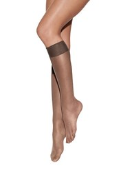 Hanes Pure Bliss Luxe Sheer Knee Highs Barely Black