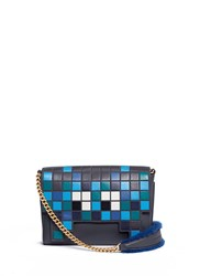 Anya Hindmarch 'Ephson Space Invader' Leather Patchwork Tote Multi Colour