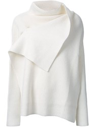 Astraet Ribbed Wrap Detail Jumper White
