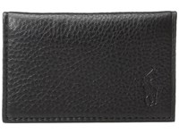 Polo Ralph Lauren Pebble Leather Slim Card Id Black Credit Card Wallet