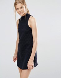 Abercrombie And Fitch High Neck Drop Waist Dress Black