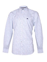 Raging Bull Ditzy Pattern Classic Fit Long Sleeve Shirt White