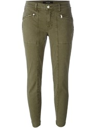 J Brand Skinny Cropped Trousers Green