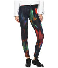 Yohji Yamamoto Printed Jersey Leggings Detritus Aop Women's Casual Pants Black