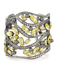 Pearly And Multi Tonal Crystal Cuff Bracelet St. John Collection
