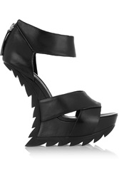 Camilla Skovgaard Leather Wedge Sandals Black