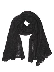 Isabel Benenato Open Weave Wool Knit Scarf