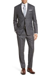 Todd Snyder Men's White Label 'May Fair' Trim Fit Windowpane Wool Suit Grey