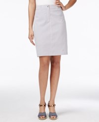 Charter Club Striped Pencil Skort Only At Macy's Intrepid Blue