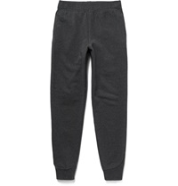T By Alexander Wang Fleece Back Cotton Blend Jersey Sweatpants Gray