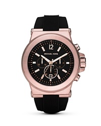 Michael Kors Black And Rose Gold Tone Watch 45Mm