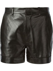Saint Laurent Cuffed Shorts Black