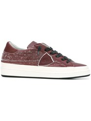 Philippe Model Lace Up Sneakers Red