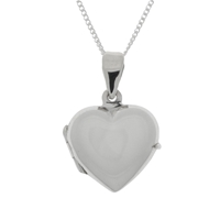 Nina B Sterling Silver Heart Shaped Locket Chain Pendant