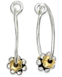 Jody Coyote Sterling Silver Earrings Daisy Hoop Earrings