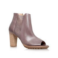 Paul Green Avril High Heel Peep Toe Ankle Boots Taupe