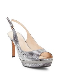 Nine West Able Platform Peep Toe Pumps Grey