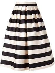 Tibi Striped Skirt Nude And Neutrals