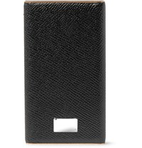Dolce And Gabbana Pebble Grain Leather Smartphone Charger Black