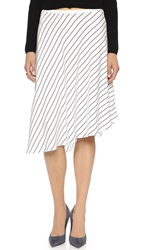 Club Monaco Jenilyn Skirt Blanc De Blanc Aviator Navy