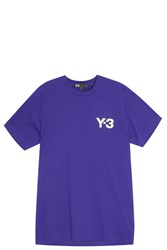 Y 3 Logo T Shirt Purple