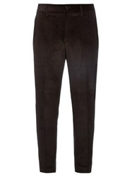 Acne Studios Stan T Cotton Blend Corduroy Trousers Black