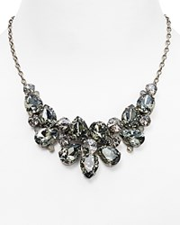 Sorrelli Crystal Statement Necklace 17.5 Silver