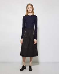 Alexander Wang Ruched Zipper Skirt Onyx