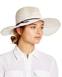 August Accessories Ombre Floppy Fedora White