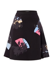 Ellen Tracy Colour Circle Skirt Black