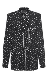 Dolce And Gabbana Tie Neck Polka Dot Shirt Black