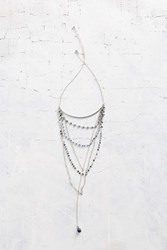 Urban Outfitters Santorini Statement Web Necklace Silver
