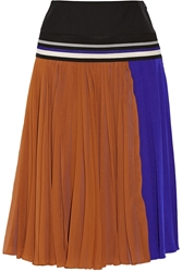 Bouchra Jarrar Pleated Silk Georgette Skirt