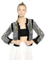 Aviu Sequin Embellished Techno Knit Cardigan
