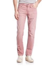 J Brand Tyler Slim Fit Jeans Red