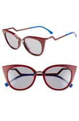 Fendi 52Mm Cat Eye Sunglasses Red Burgundy