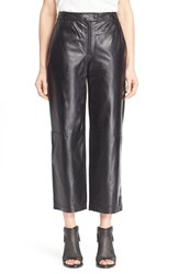 Rag And Bone Women's Rag And Bone 'Otille' Lambskin Leather Wide Leg Crop Pants