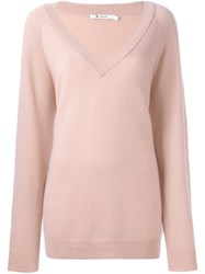Alexander Wang T By V Neck Jumper Pink And Purple